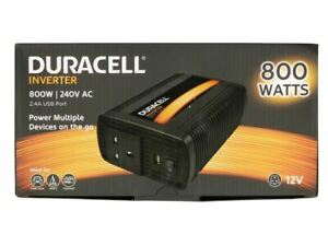 Duracell 800W Single UK Socket Inverter power adapter/inverter DRINV80-UK