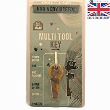 Keyring Ninja Hero Silver Multi Tool Key Bottle Opener Cutter Birthday Xmas Gift
