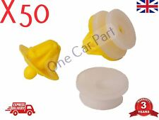 50x RENAULT TRAFIC DOOR CARD PANEL TRIM CLIP INTERIOR MK2 TRAFFIC Yellow PLASTIC