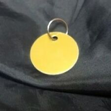 Pet Tag - Aluminium Tag with ring to attach to collar. 32 mm accross