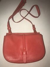 Fossil Collette Crossbody Bag Leather . Grey With Birds Very Good Cond