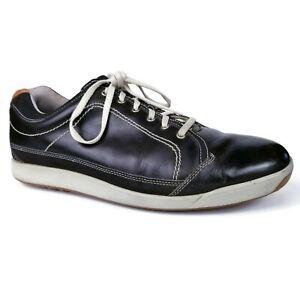 Footjoy FJ Contour Casual Black Leather Golf Shoes Spikes Mens Sz 10.5 M 54244