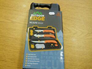 NIB Outdoor edge Wild Lite 6 Piece Game processing Knife Set WL-6 Orange
