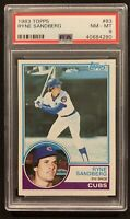 1983 TOPPS BASEBALL #83 RYNE SANDBERG PSA 8 NM-MT HOF CHICAGO CUBS