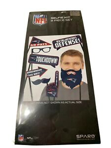 NEW ENGLAND PATRIOTS NFL SELFIE KIT - 8 PIECE SET - NEW IN PACKAGE