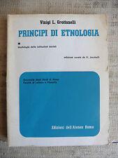 Principi di etnologia - Vinigi Grottanelli - dell'Ateneo
