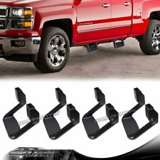 4 X Black Texture Coated DIE-CAST Aluminum SUV Truck Pickup Nerf Side Step Bar