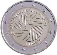 Moneta 2 euro commemorativa LETTONIA 2015 Presidenza FDC