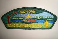 OA LAND O'LAKES COUNCIL SHOULDER PATCH SCOUT CSP MICHIGAN FINER STITCH FLAP