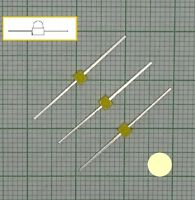 10 Stück warmweiß Led Leuchtdioden(1,8mm - 2mm)  - E101