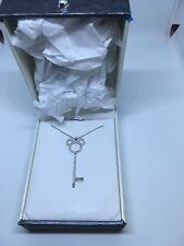 D23 Expo Mickey Icon Key Necklace LE 100 .925 Sterling Silver Disney Crislu New