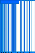 Stripes White Phosphorescent 0.0098-0 3/16in 1:24 Decal