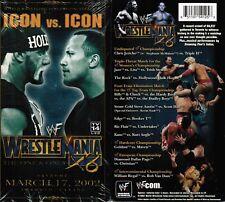 WWE WWF Wrestlemania 18 X8 XVIII 2002 Icon Vs Icon New Wrestling VHS Tape