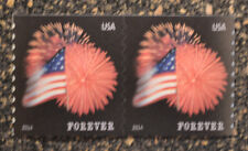 2014USA #4854 Forever Star Spangled Banner (APU) Coil Pair  Mint  NH  flag 2