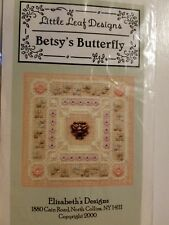Little Leaf Designs Elizabeth's Designs Betsy's Butterfly Kit Cross Stitch Chart