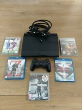 Bundle SONY PS3 SUPER SLIM 500GB Console Controller Games & Movies Blu Ray