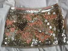 Stunning  All Saints Oyster Sequin Skirt Coral Size 6 Excellent Condition