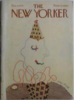 December 8, 1975 THE NEW YORKER Magazine COVER ART - PAUL DEGEN / CALVIN TRILLIN