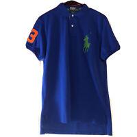 Ralph Lauren Men`s Royal Blue Big Pony Polo Shirt Size M Custom Fit