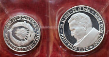 20 Dinara JAJCE und 50 Dinara TITO Jugoslawien 1968 (Silber) im Etui -0135-