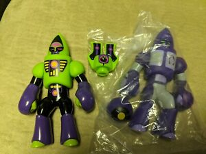 Glyos Galaxxor Lot of 2 with Complete with Bonus Heads