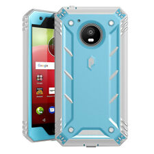 Motorola Moto E4 Case Poetic Shockproof Cover with Screen Protector Blue