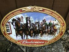 Budweiser Clydesdale Oval Wall Bar Sign | Manufactured 2000