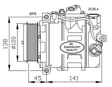 Kompressor Klimaanlage - NRF 32256