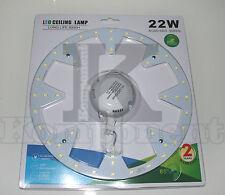 Pannello Tondo LED SMD 22W Bianco Conversione Plafoniere