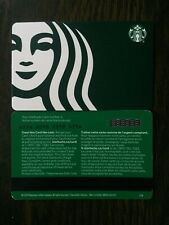 "Canada Series Starbucks ""SIREN ON GREEN 2020"" Gift Card WITH BLACK MAG STRIPE"