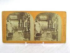Vtg Stereoview Stereoscope Card 1867 Paris Exhibition Sweden Swedish Section