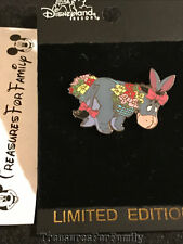 Disney Le Pin Winnie the Pooh Eeyore with Flower Baskets Easter 2001 New Fre Shp