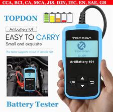 TOPDON AB101 12V Car Battery Tester Analyzer Cranking Charging Tool CCA 100~2000