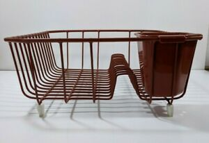Vintage Rubbermaid Rust Brown Color Coated Wire Dish Drainer Drying Rack