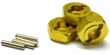 L175 1/8 Buggy M14 14mm Drive Hex Hub Wheel Adapter Alloy Yellow x 4 6mm 083046
