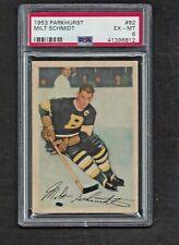 1953 Parkhurst #92 Milt Schmidt HOF PSA 6 EX-MT Vintage Boston Bruins 1953-54