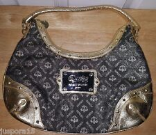 Beyonce Dereon NWOT Woman's Black/Gold Logo Design Shoulder Handbag