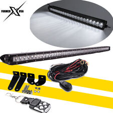 40 Inch Bumper LED Light Bar w/Wiring Kit For Ford F250 F350 Ram 2500 3500 4WD