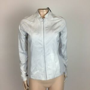 NEW Abercrombie A&F Women's Juniors Shirt M Full Zip Athletic Jacket Gray N18