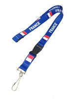 National Country Flag Polyester Breakaway Country Lanyard Id Mobile Badge Flat