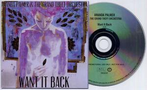 AMANDA PALMER & GRAND THEFT ORCHESTRA Want It Back 2012 UK 1-trk promo CD