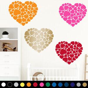 Heart Shape Wall Art Love Kid Boy Girl Nursery Room Decal Sticker House Decor V6
