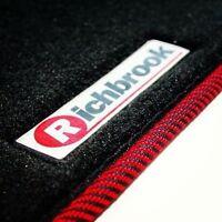 Richbrook Car Floor Mats Set for BMW Mini Clubman 2007> - Red & Black Ribb Trim