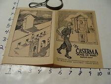 vintage travel paper--THE CASERMA house of mars NAPLES ITALY restricted use