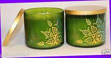 2 Jars Bath & Body Works Eucalyptus Spearmint 3-Wick Candle 14.5 oz Winter 2013