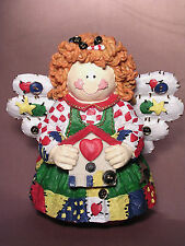 PATCHWORK ANGEL FIGURINE NEW OTHER