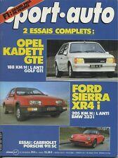 SPORT AUTO n°256 05/1983 avec encart et poster* PORSCHE 911 cab OPEL KADETT GTE