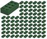 ☀️100 NEW LEGO 2x4 DARK GREEN Bricks (ID 3001) BULK Parts star wars city town
