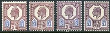1911 Somerset House group of 4, 5d shades unused o.g. Spec M30 (1/4)