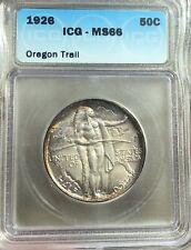 1926 Oregon Trail MS66 Silver Half Dollar 50c Beautiful Tone ICG